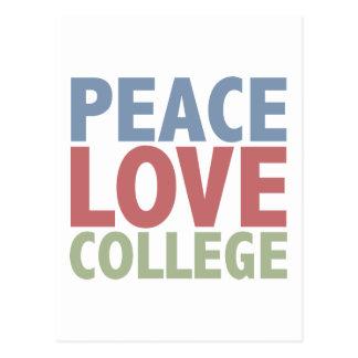 Peace Love College Postcards