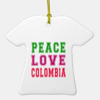 Peace Love Colombia Ceramic T-Shirt Decoration