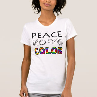 Peace Love Color for Colorists Tee Shirt