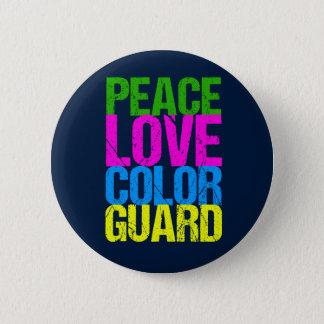 Peace Love Color Guard 6 Cm Round Badge