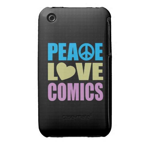 Peace Love Comics iPhone 3 Case-Mate Case