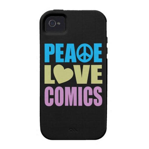 Peace Love Comics iPhone 4 Cover