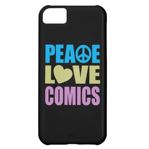 Peace Love Comics iPhone 5C Cover