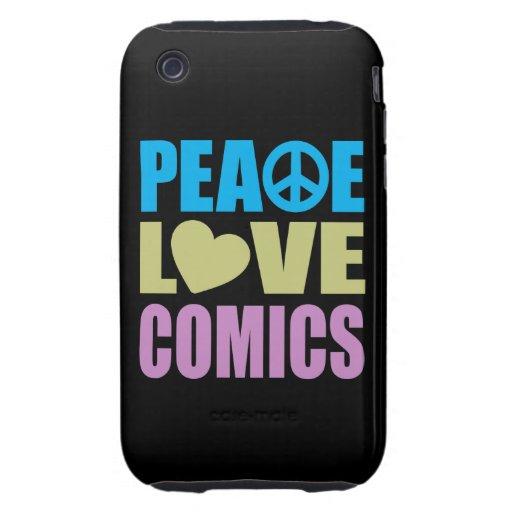 Peace Love Comics Tough iPhone 3 Cover
