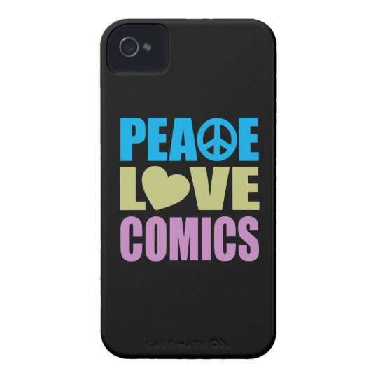 Peace Love Comics iPhone 4 Case