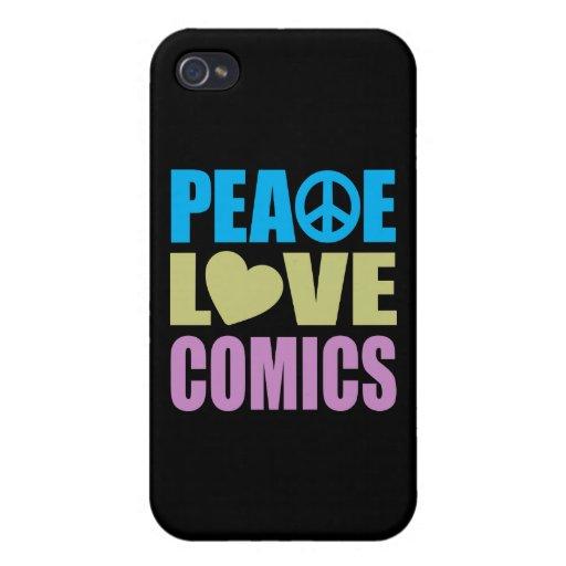Peace Love Comics iPhone 4/4S Covers
