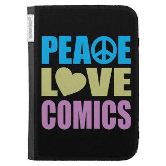 Peace Love Comics Kindle Folio Case