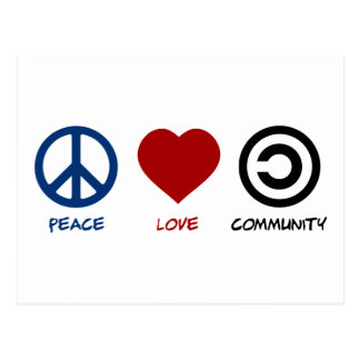 Peace Love Community Postcard