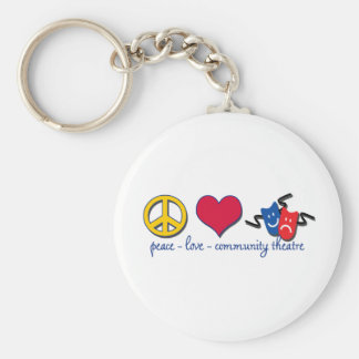 Peace Love Community Theatre Key Ring