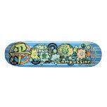 Peace-Love-Compassion-Kanji - - - Skate Board
