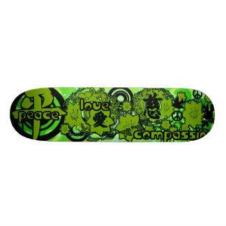 Peace-Love-Compassion-Kanji Skateboard Deck