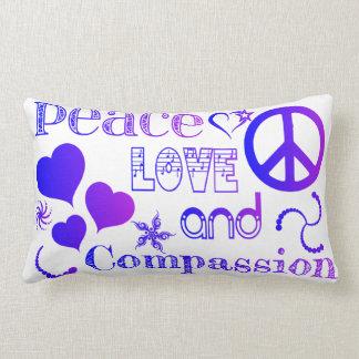 Peace Love & Compassion Lumbar Cushion