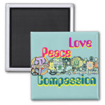 Peace Love Compassion Magnet