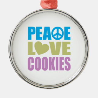 Peace Love Cookies Christmas Ornament