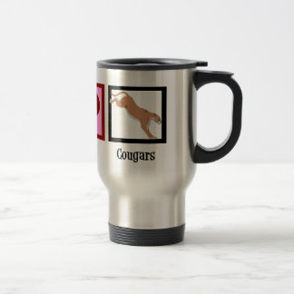 Peace Love Cougars Travel Mug