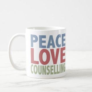 Peace Love Counselling Basic White Mug