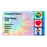 Peace, Love, Country Music Business Card Templates