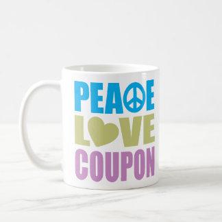 Peace Love Coupon Basic White Mug