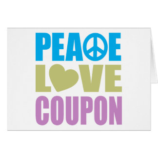 Peace Love Coupon Cards