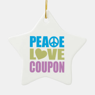 Peace Love Coupon Christmas Ornament