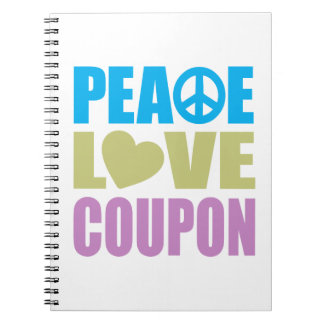 Peace Love Coupon Notebook