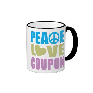 Peace Love Coupon Ringer Mug