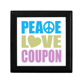 Peace Love Coupon Small Square Gift Box