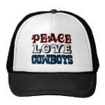 Peace Love Cowboys Cap