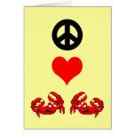 Peace love crabs