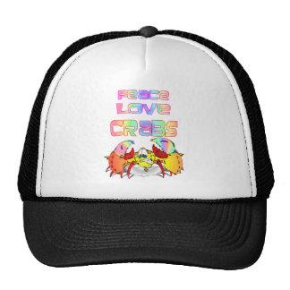 PEACE LOVE CRABS CAP