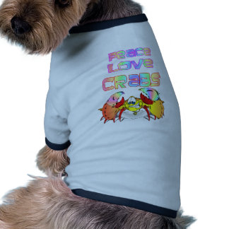 PEACE LOVE CRABS RINGER DOG SHIRT