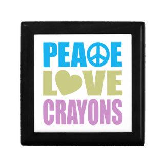 Peace Love Crayons Keepsake Boxes