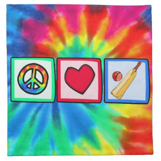 Peace, Love, Cricket Napkin
