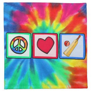 Peace, Love, Cricket Napkins