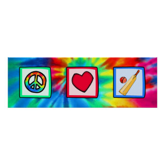Peace, Love, Cricket Poster
