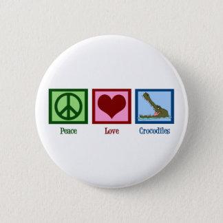 Peace Love Crocodiles 6 Cm Round Badge