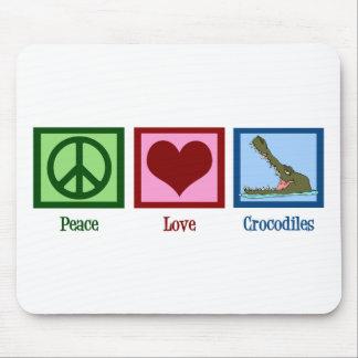 Peace Love Crocodiles Mouse Mat