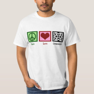 Peace Love Crosswords T-shirts