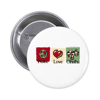 Peace. Love. Cthulhu. 6 Cm Round Badge