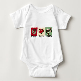 Peace. Love. Cthulhu. Baby Bodysuit
