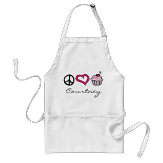 Peace, Love & Cupcakes! Add Your Name! Standard Apron