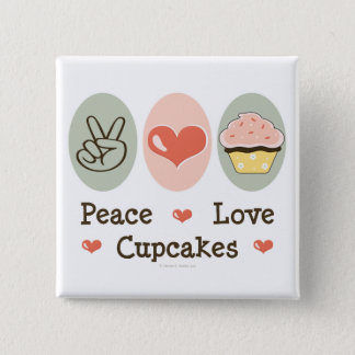 Peace Love Cupcakes Button