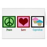 Peace Love Cupcakes Greeting Card