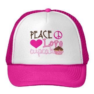 Peace, Love, Cupcakes Mesh Hat