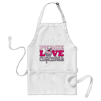Peace, Love & Cupcakes! Standard Apron