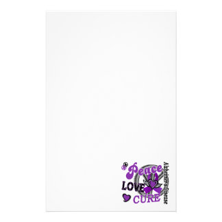 Peace Love Cure 2 Alzheimer's Disease Personalised Stationery