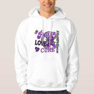 Peace Love Cure 2 Alzheimer's Disease Sweatshirts