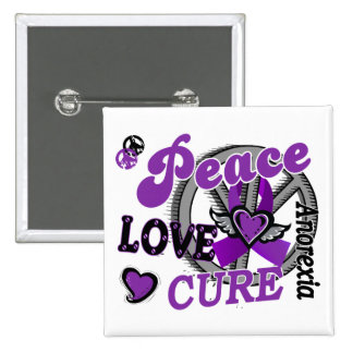 Peace Love Cure 2 Anorexia 15 Cm Square Badge