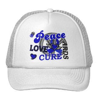 Peace Love Cure 2 ARDS Trucker Hats