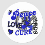 Peace Love Cure 2 ARDS Round Sticker